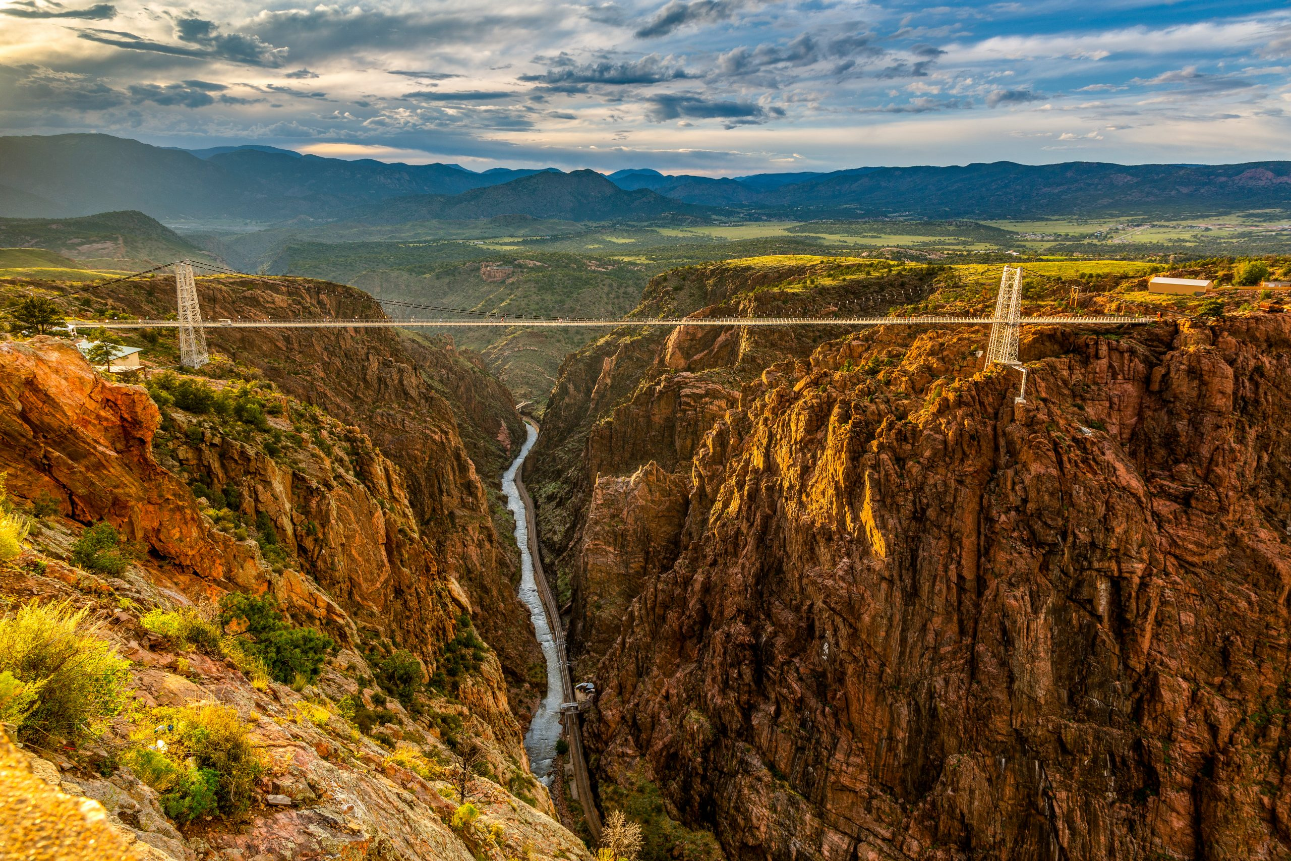 Highest Suspension Bridge in the U.S. - Attractions in Colorado